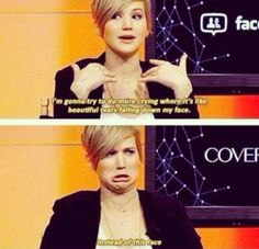 Jennifer Laurence on crying
