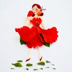 Miss Malaysia! Made of hibiscus, our big red national flower.