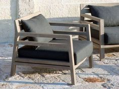 Buy online Costes | garden armchair By ethimo, teak garden armchair with armrests, costes Collection