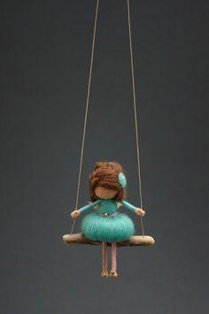 Muñeca de hadas fieltro - de HECHO a la MEDIDA de la aguja