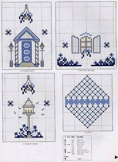 Вышиваем крестиком домики