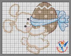 Olá todos! Hoje trouxe lindas sugestões para a páscoa estes gráficos são da amiga Cidinha Ramos da page Meus pontos... Cross Stitch For Kids, Cross Stitch Animals, Cross Stitch Charts, Cross Stitch Patterns, Especie Animal, Easter Cross, Little Stitch, Canvas Crafts, Plastic Canvas Patterns
