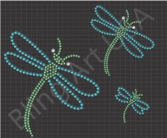 Dragonfly Rhinestone Design Decor Insect Rhinestone Wizard Flying Insect Gmi Stilista Bug Janome Artistic Suite Etc Hand Embroidery Patterns, Diy Embroidery, Bead Patterns, Design Patterns, Stencil Templates, Stencils, Rhinestone Crafts, Dragonfly Art, Dot Art Painting
