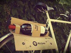 Cardboard wine rack for your bike!