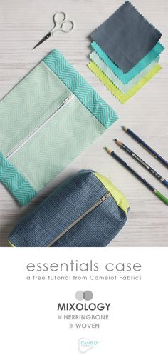 Two versions of the essentials case from Camelot Fabrics