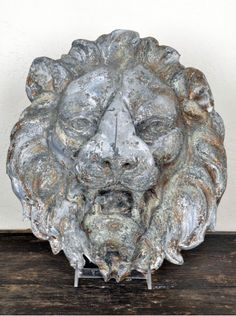 Antique Zinc Lions Face