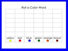 30 FREE Roll a Word Games Templates. I left them in an editable doc form, so you can add your own letters/sounds, students' names, word families, sight words, phonics' patterns, or spelling words. Kathy Griffin's Teaching Strategies