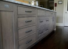 Image result for gray stained cabinets kitchen