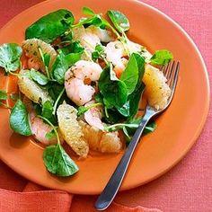 southeast asian grapefruit and shrimp salad