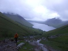 The night starts descending on the Three Peaks challenge, over Scafell Pike  #3peaks