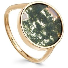 Moss Agate Venus Ring (44.270 RUB) ❤ liked on Polyvore featuring jewelry, rings, agate jewelry and agate ring