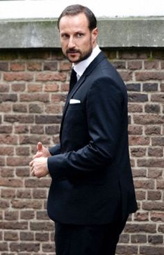 Crown Prince Haakon of Norway at the Old Church in Delft, The Netherlands, for the memorial of Prince Friso, 02.11.13.