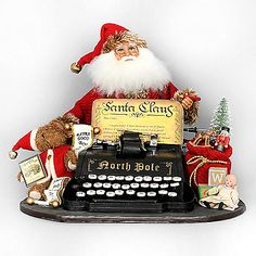 The Letters from Santa from Karen Didion Originals brings the joy of Christmas into your home. The quality of this figurine is unmatched with its hand-painted face, glass inset eyes, real mohair beard, unique fabric, and detailed accessories.