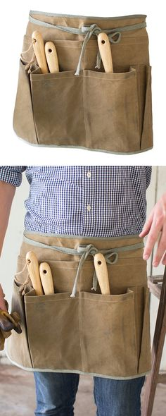 Every handyman or handywoman could benefit from this equally handy accessory… Valentines Day Gifts For Him, Fathers Day Gifts, Apron Pockets, Dot And Bo, Gift Guide, Modern Furniture, Benefit, Craft Ideas, Accessories