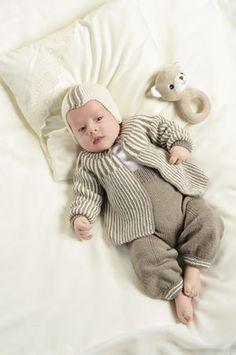 Tema 21: Modell 9 Jakke, bukse og hjelm #strikk #baby