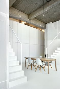 Loft apartment with super-thin staircases by adn Architectures