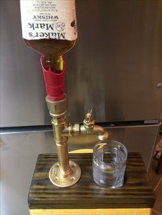 Brass beverage dispenser