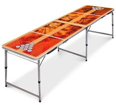 Amazing offer on Best Choice Products Official Tournament Sized Beer Pong Table, Portable Foldable Outdoor, Indoor - Brown online - Ppwonderfulrange Beer Table, Beer Pong Tables, Ping Pong Table, Led Glow Lights, Simple Dining Table, Tailgate Table, Winsome Wood, Living Room Bench, Portable Table