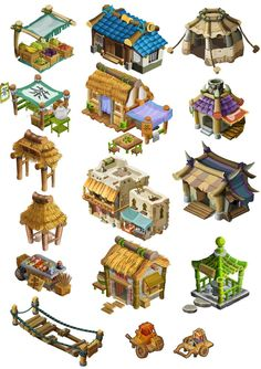 1 by mozhiyaoe on deviantART. Cute RPG House.