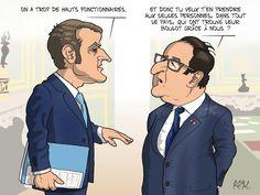 #humour Macron, la fonction publique et la politique #dessin pour @Lopinion_fr story @NSegaunes @Stephane_Grand
