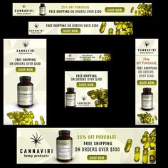 New Cannabis Company Needs 7 Banner Ads by Trupti Patel