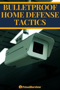 Bulletproof home defense tactics you can enact now to secure your safety. Security Companies, Security Tips, Safety And Security, Home Security Systems, Security Camera, Private Security, Security Alarm, Survival Prepping, Emergency Preparedness