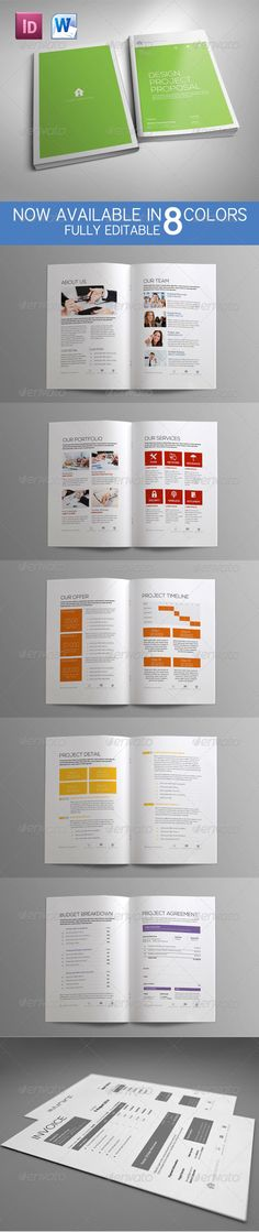 Proposal Template (Update MS Word Version) #GraphicRiver word - microsoft word proposal template free download