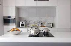 Znalezione obrazy dla zapytania nowoczesna biała kuchnia aranżacje