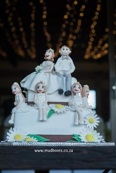 Wedding cake from Coenraad and Angelique wedding in Bloemfontein created by  Sinden's Wedding Cakes