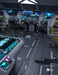 Sci-fi Cockpit Interior