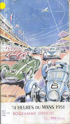 1951 LE MANS 24 HOUR RACE - Programme cover.