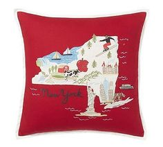 POTTERY-BARN-NEW-YORK-EMBROIDERED-PILLOW-COVER-18-034-NEW