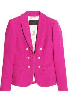 Hot Pink Wool-Crepe Blazer