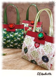 Small handbags for mini gingerbread with DSP Christmas delights - Tutorial Guide Video Advent Market Series Stampin & # Up! Small Handbags, Purses And Handbags, Origami Box With Lid, Stampin Up, Christmas Craft Fair, Christmas Cookies, Art Origami, Origami Ball, Paper Purse
