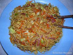 Sri lankan Recipes: fried noodles recipes
