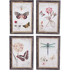 I pinned this 4 Piece Jardin Wall Art Set from the Look: Serene event at Joss and Main!