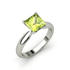 The Elara Ring in Peridot & White Gold