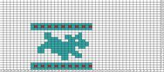 Tricksy Knitter Charts: running dogs