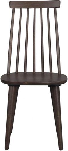 bol.com | Nordiq Lotta bar chair - Dining room chair - Wood - Walnut