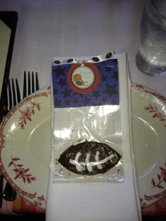 Sports Theme Baby Shower   Football Brownie Party Favor