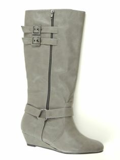 MATERIAL GIRL PACE' Women's Shoes Taupe Grey Tall Shaft Knee-High Boots Size 9.5