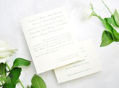 Faire-part de mariage classique vert Classic wedding invite #fairepart #mariage #classique #tradition