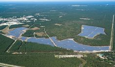 The Long Island Solar Farm installation is part of the largest solar energy project in the state of New York, according Brookhaven lab, LIPA and BP Solar. Description from smartplanet.com. I searched for this on bing.com/images