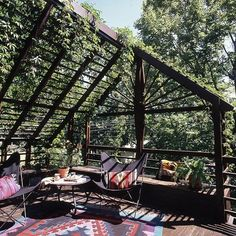 Section Your Shade  Build an inexpensive, rustic pergola that can support climbing vines. It will provide shade and a feeling of privacy