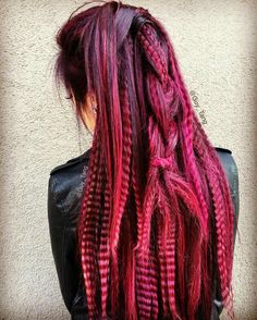 Burgundy dyed hair #guytang