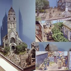 "Diorama ""Saint Marie de mont"". Modeler Riccardo Casati #scalemodel #plastimodelismo #miniatura #miniatur #hobby #modelismo #modelism #modelisme #miniature #diorama #plasticmodel #plastimodelo"