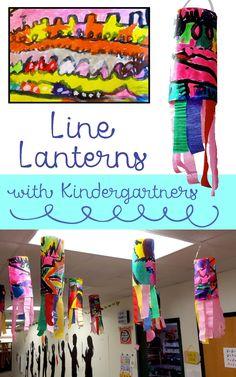Line art lesson - Kindergarten Line Lanterns – Line art lesson