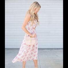 Pink Floral high low dress cutout dress NEW pink floral dressy itch cute cutout detail pic 2-4 Dresses High Low
