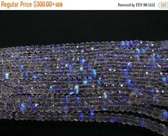 25% ON SALE 1 Strand super quality Rainbow Moonstone faceted rondelle Beads-Size 4 to 6 mm 16 inch.