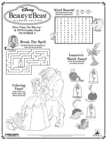 English Worksheet Beauty And The Beast  Disney